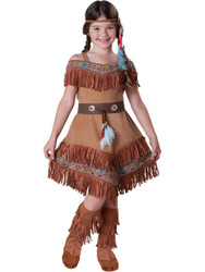 Girl's Indian Maiden Non Native Costume