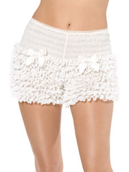 Deluxe Pantaloons White Ruffled with Bows