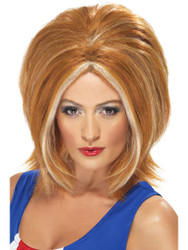 Spice Girls Girl Power Wig Ginger with Blonde Streaks by Smiffy's