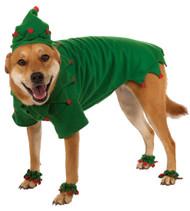 Elf Pet Dog Christmas Costume