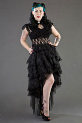 Ophelie Long Gothic Skirt in Black Lace