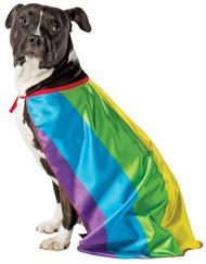 Rainbow Dog Flag Cape