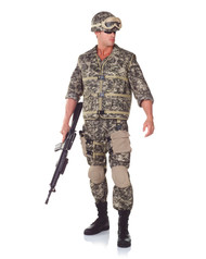 Adult Camo Army Ranger Costume One Size