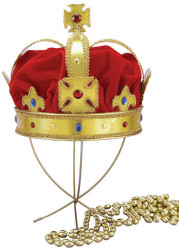 Regal King Crown Adult Rennaissance Costume Accessory