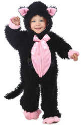 Black Pink Kitty Toddler Infant Costume