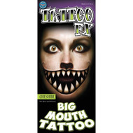 Cheshire - Big Mouth Tinsley Transfer Temporar Tattoo