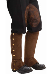Steampunk Brown Suede Boot Spats