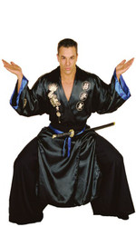 SAMURAI warrior kung fu black japanese adult mens historical halloween costume