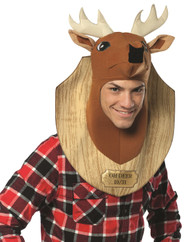 Deer Head Trophy Adult Funny Mens Hunting Wall Mount Halloween Costume One Size
