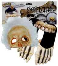 Billy Bob Skeleton Kit Sandals Teeth Afro Mask Adult Halloween Costume
