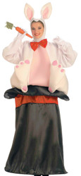 Magic Hat Rabbit Easter Bunny Costume Adult One Size