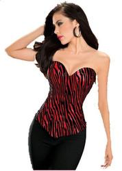 Red Sweetheart Cut Corset Womens Costume