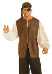 PIRATE SHIRT buccaneer renaissance vest blouse halloween adult mens costume