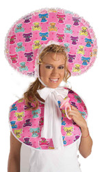 BABY GIRL KIT funny adult pink bib boomer halloween costume