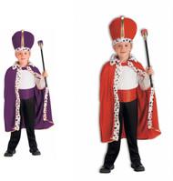 Royal King Robe & Crown Child Accessory Set