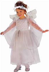 DELUXE ANGEL girls kids toddler christmas pageant white halloween costume SMALL