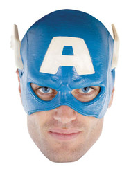 CAPTAIN AMERICA MASK face vinyl superhero mens halloween comic costume