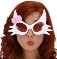 HELLO KITTY GLASSES white frame sunglasses bow cat pink lenses costume