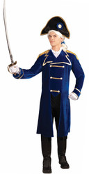 ADMIRAL soldier Washington colonial navy officer historical halloween costume