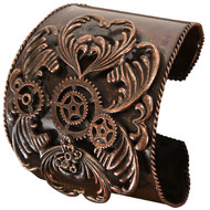 STEAMPUNK CUFF antique copper costume sci fi industrial victorian accessory
