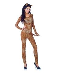 Sexy Leopard Cat Suit Women's Costume