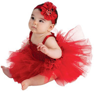 LADYBUG red dress tutu bug girls infant newborn baby halloween costume 6M - 9M