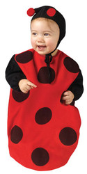 LADYBUG bunting bug lady baby girls infant bug kids halloween costume 9M