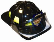 FIREMAN HELMET accessory firefighter black hat adult mens halloween costume