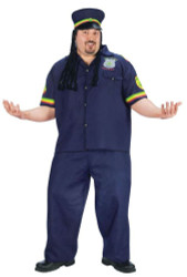 Ganja COP way high  funny mens halloween costume PLUS