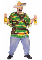 TEQUILA alcohol funny mexican mens costume PLUS size