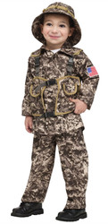 Desert Commando combat soldier army rambo adult halloween costume Size 3-4T