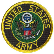 black gold green US ARMY PATCH embroidered iron on  USA mens kids boys costume