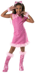 Drama Queen Alley Pussy Kitty Cat pink  child costume M