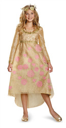 Aurora Sleeping Beauty Coronation Gold Gown with Headpiece