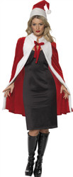 Christmas Cape and Hat Holiday Costume Womens