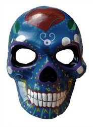 Full Face Blue Day Of Dead Mask