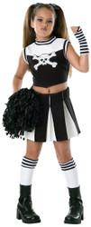 Kids Bad Spirit Cheerleader Goth Costume