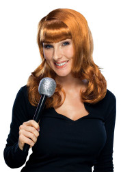 KATHY GRIFFIN WIG d list red hair bangs womens adult halloween costume accessory