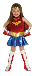 WONDER WOMAN superhero comic character halloween girls costume toddler 1-2 yrs