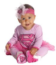 Pink Supergirl Onesie Costume Baby 6-12M