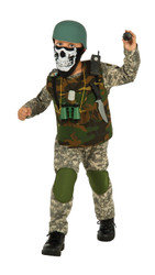 Camo Trooper Army Costume Boys