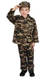Boys' Camo Military Costume 202