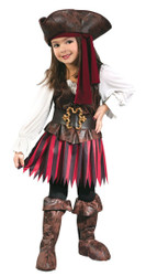 Toddler High Seas Pirate Girl Buccaneer Halloween Costume - Large FIts 3T to 4T