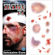 Intensive Care Cuts and Bruises Temporary Tattoo FX Tinsely Transfers