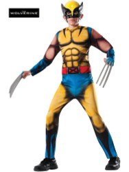 Marvel Classic Xmen Deluxe Muscle Chest Boys Kids Wolverine Costume