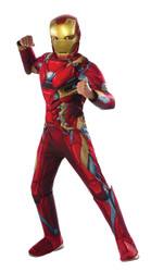 deluxe muscle Captain America Civil War Iron Man Costume Boys Kids