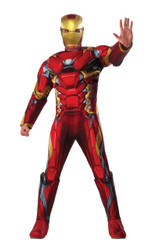 Captain America Civil War Deluxe Muscle Chest adult mens Iron Man costume