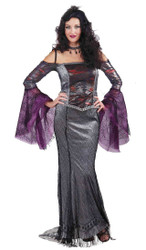 Designer Collection gothic Wicked Widow adult womens Halloween costume Small