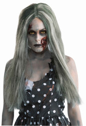 Zombie long wig adult womens Halloween costume