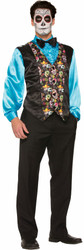 Day of the Dead Day of the Dead Vest adult mens Halloween costume